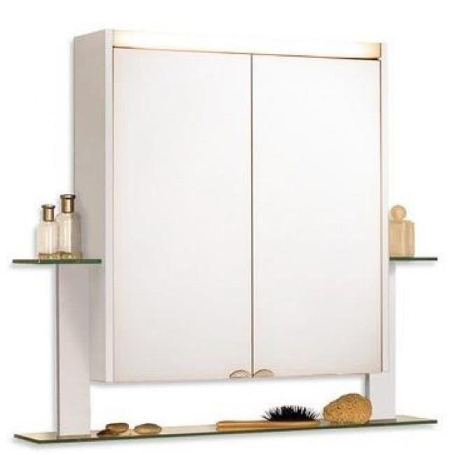 Cette armoire de toilette blanche est en panneaux de - Armoire de toilette 3 portes ...