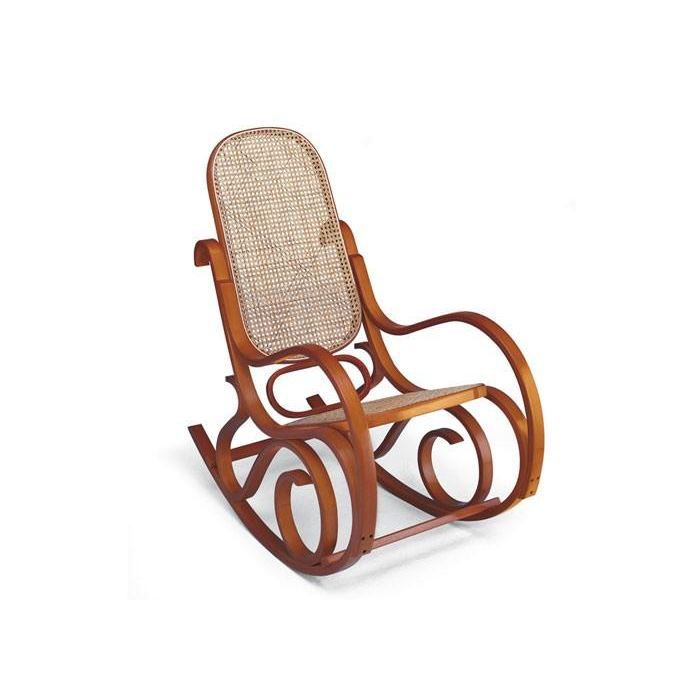 rocking chair cann louisiane miel achat vente fauteuil mati re de la structure bois. Black Bedroom Furniture Sets. Home Design Ideas
