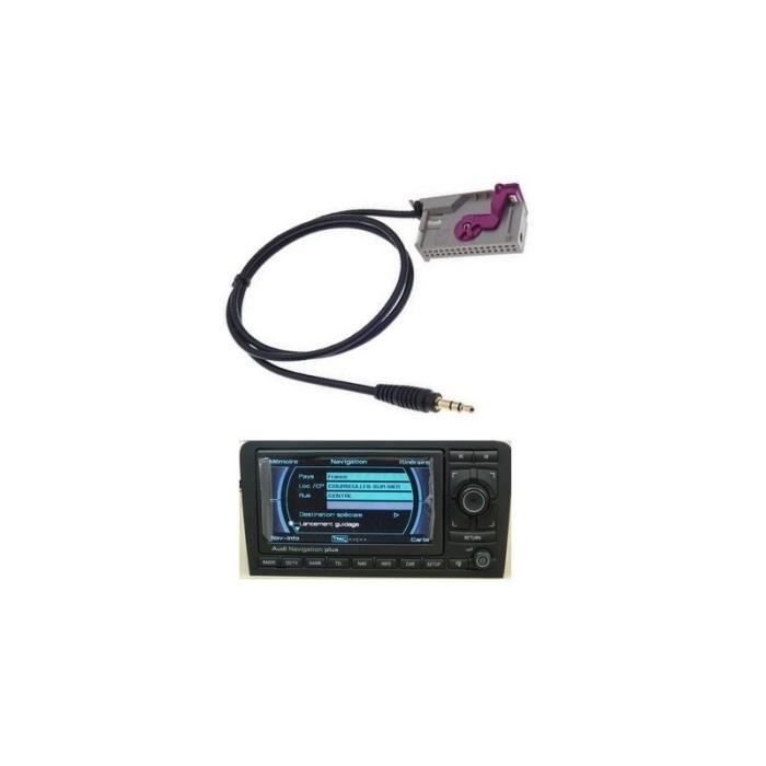 aux adapter kabel for radio gps audi rns e aux in adapter achat vente installation. Black Bedroom Furniture Sets. Home Design Ideas