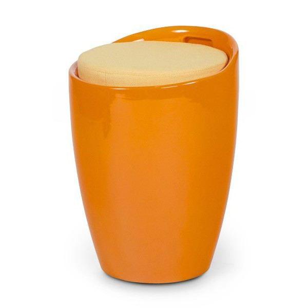 tabouret bas design travis orange achat vente tabouret r sine abs tissu cdiscount. Black Bedroom Furniture Sets. Home Design Ideas