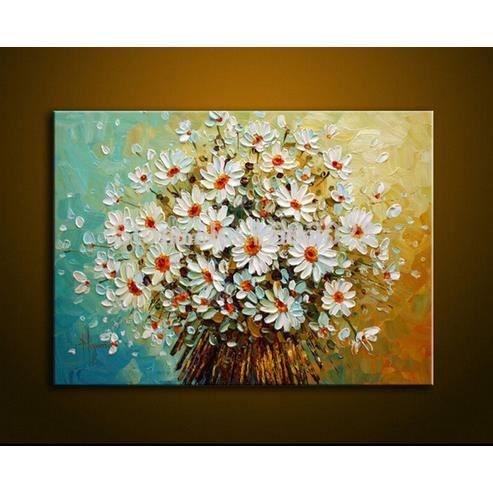 Pipihua moderne palette couteau pais peinture blanc for Peinture palette
