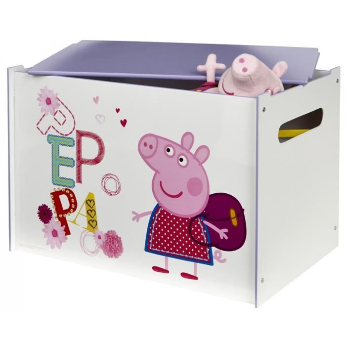 coffre de rangement peppa pig 60 x 40 x 40 cm achat vente coffre jouets 3700595087277. Black Bedroom Furniture Sets. Home Design Ideas