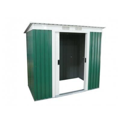 Abri de jardin en acier galvanis vert ringo 3m achat for Abri de jardin d occasion