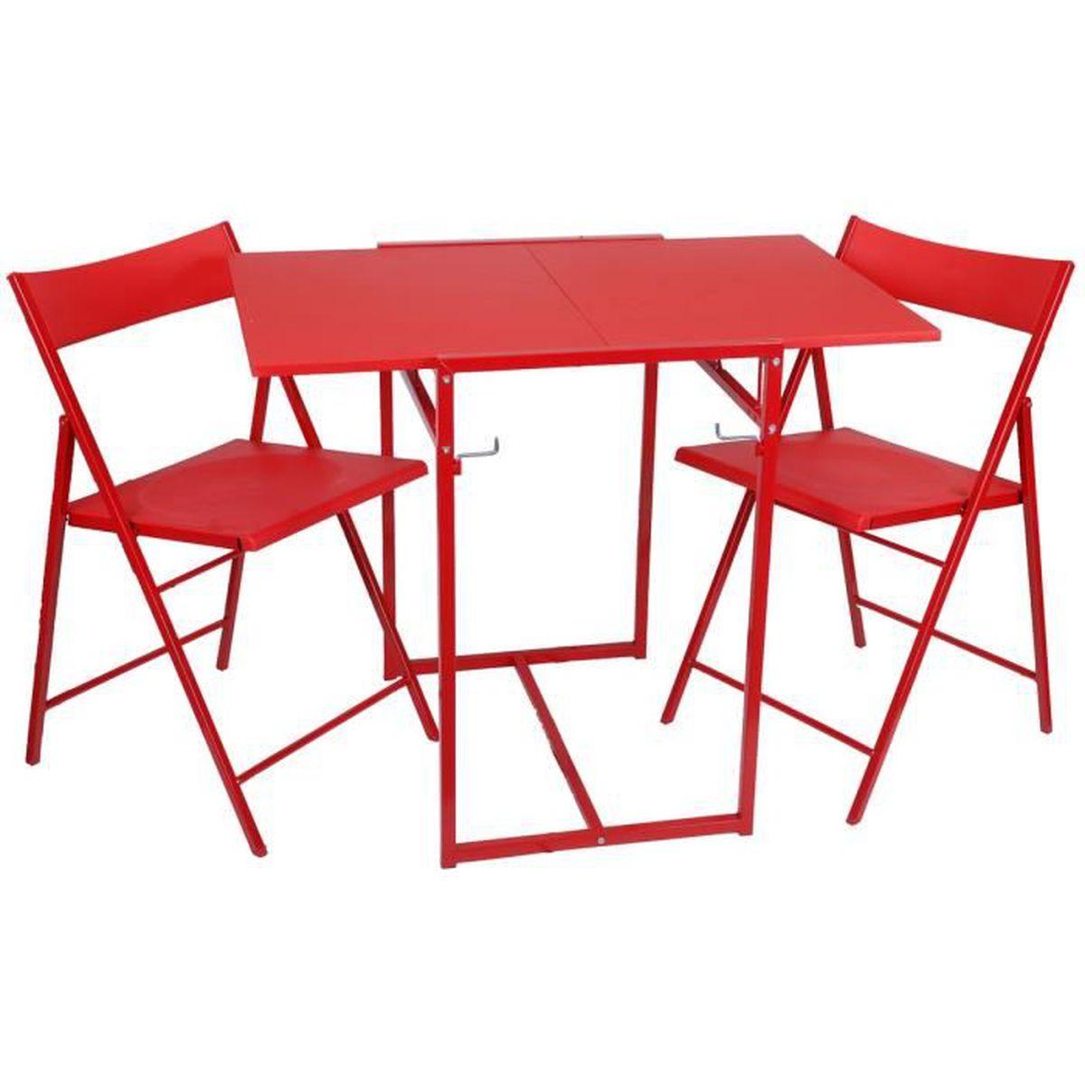 Ensemble table pliable avec duo de chaises id al studio for Table pliable avec chaise