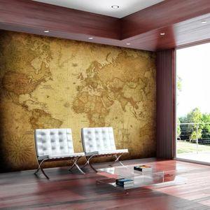 affiche carte du monde achat vente affiche carte du monde pas cher cdiscount. Black Bedroom Furniture Sets. Home Design Ideas