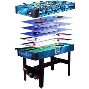 TABLE MULTI-JEUX Multijeux 7 en 1 - BabyFoot/Billard/Hockey...