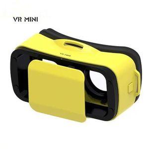 LUNETTES 3D PS jaune mini Lunettes vidéo 3D réalité virtuelle