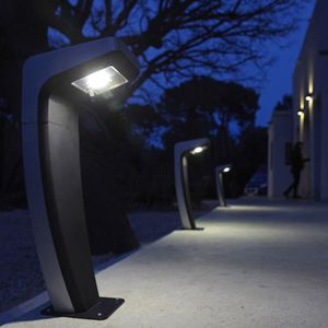 BALISE - BORNE SOLAIRE  Borne solaire et LED à visser en acier inoxydable