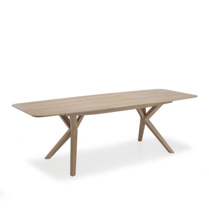 L onie table extensible avec allonge papillon l 185cm for Meuble avec table extensible