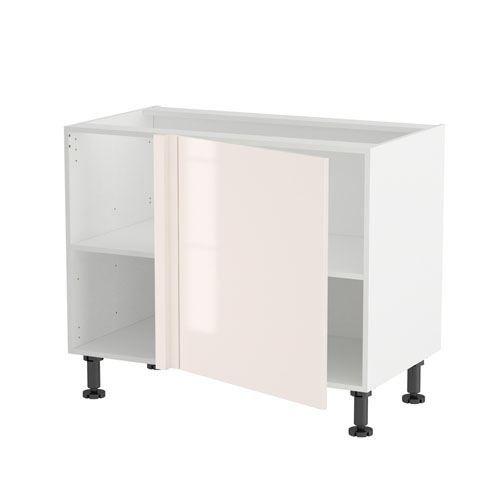 Meuble angle bas droit 100 1 porte 60 70 pasta achat vente l ments hau - Peindre un meuble en panneau de particules ...