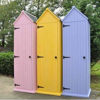 Armoire etanche de jardin en bois type cabine d achat - Cabine de plage en bois pour jardin ...