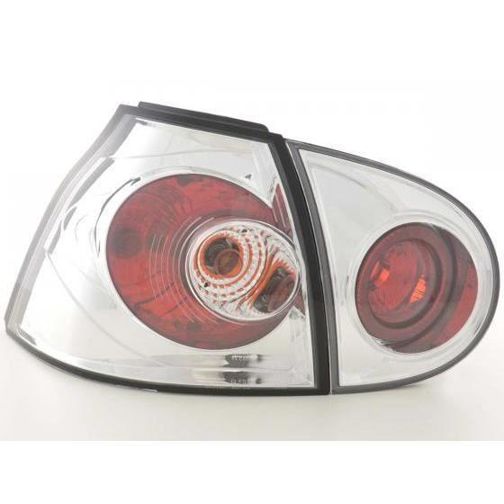 feux arri res pour vw golf 5 type 1k an 03 08 chrome achat vente phares optiques feux. Black Bedroom Furniture Sets. Home Design Ideas