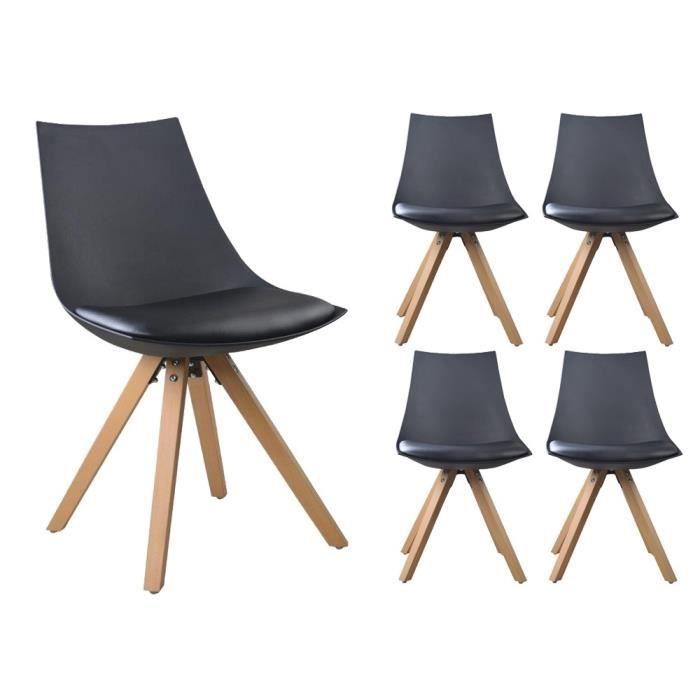 nordic lot de 2 tabourets de bar a3 gris bois massif cuir scandinave chaise pied achat vente. Black Bedroom Furniture Sets. Home Design Ideas
