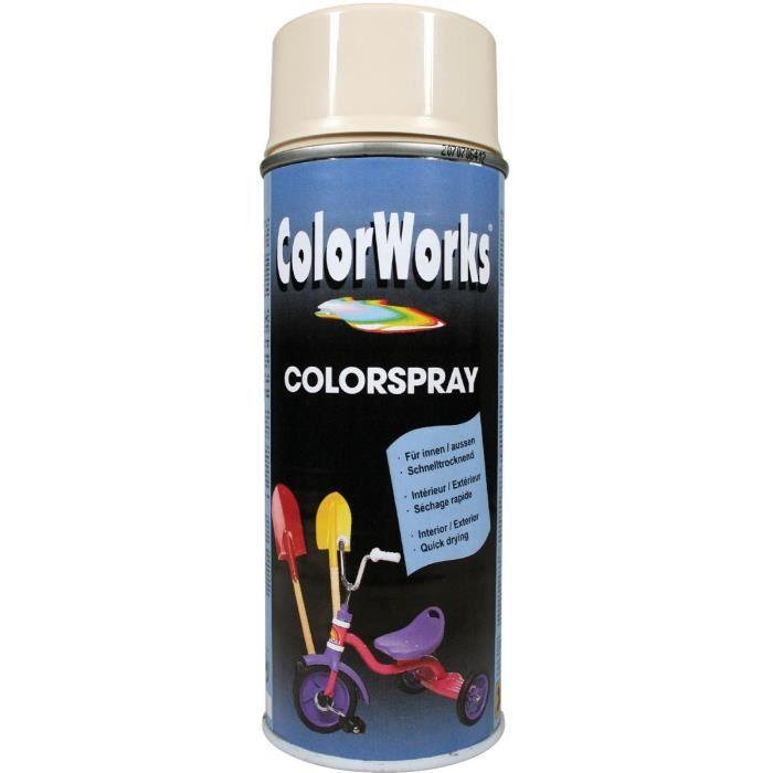 Peinture brillante colorworks blanc ivoire achat vente peinture verni - Peinture blanc ivoire ...