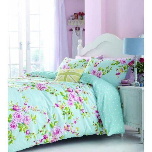catherine lansfield canterbury parure de lit multicolore king size achat vente parure de. Black Bedroom Furniture Sets. Home Design Ideas