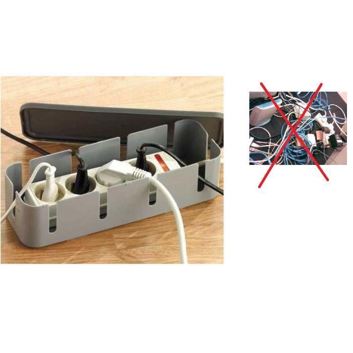 boitier organiseur electrique gris achat vente c ble prise boitier organiseur electriq. Black Bedroom Furniture Sets. Home Design Ideas