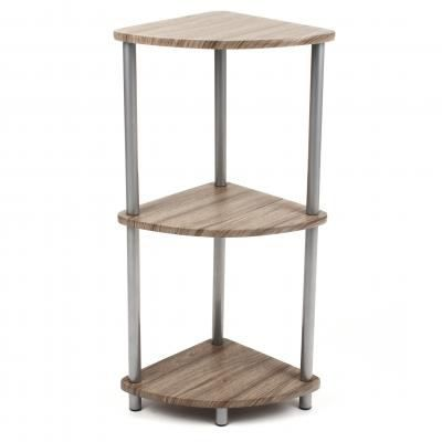Etagere d 39 angle grey achat vente meuble tag re for Etagere d angle salon