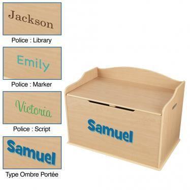 coffre jouet en bois personnalisable achat vente. Black Bedroom Furniture Sets. Home Design Ideas