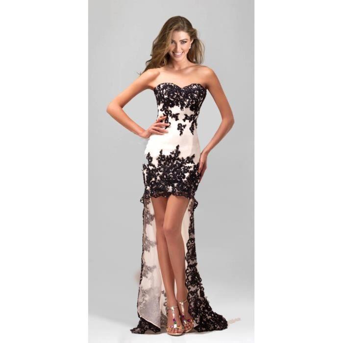 robe de soir e asymetrique court blanc achat vente robe robe de soir e asymetrique. Black Bedroom Furniture Sets. Home Design Ideas
