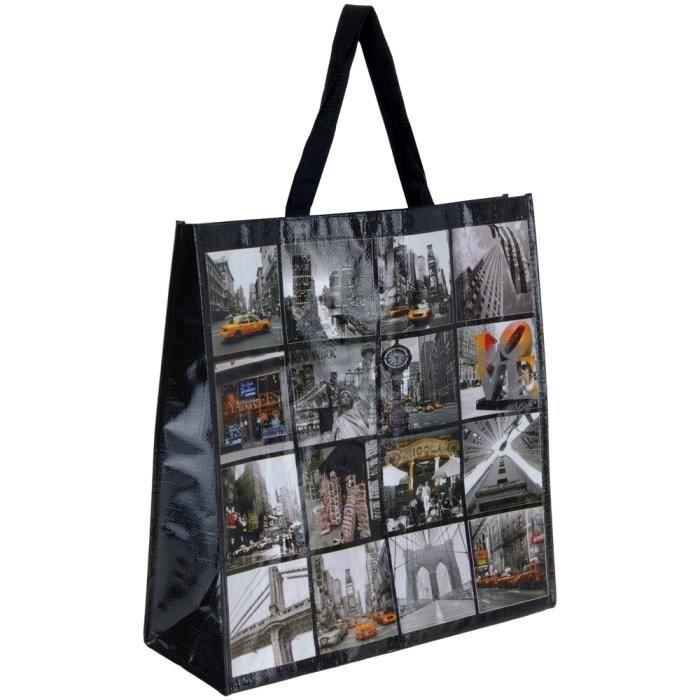 sac cabas pour courses d co new york mosaique taxi avenue times square achat vente sac. Black Bedroom Furniture Sets. Home Design Ideas