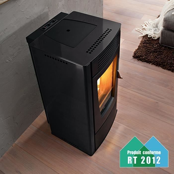poele a pellets dalia air noir achat vente po le. Black Bedroom Furniture Sets. Home Design Ideas