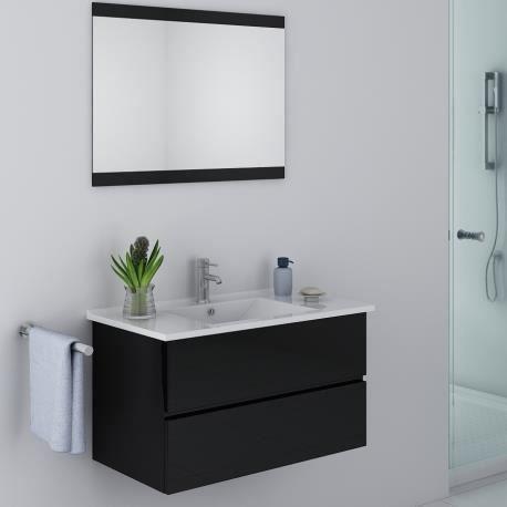 Meuble de salle de bain noir design - Achat / Vente salle de bain ...