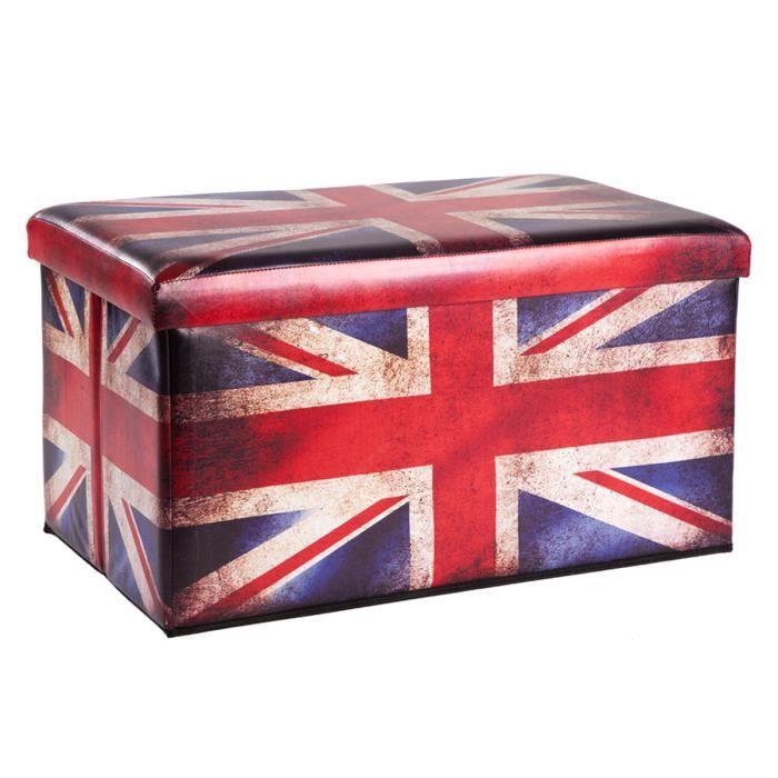 pouf et coffre de rangement pliant drapeau uk achat vente pouf poire les soldes sur. Black Bedroom Furniture Sets. Home Design Ideas