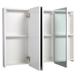 Meuble salle de bain armoire pharmacie avec miroir for Armoire de toilette miroir pas cher