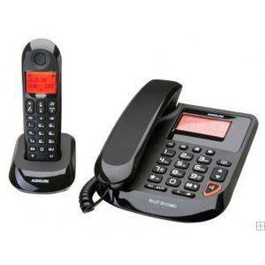 telephonie r telephone filaire avec combine sans fil