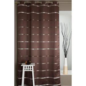rideaux opaques achat vente rideaux opaques pas cher cdiscount. Black Bedroom Furniture Sets. Home Design Ideas