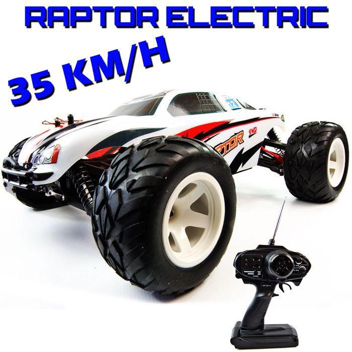voiture truggy raptor electrique rc 1 10 me achat vente voiture camion cadeaux de no l. Black Bedroom Furniture Sets. Home Design Ideas