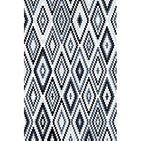 tapis ethnique noir et blanc pour salle manger fresh kelim 120x170cm noir achat vente. Black Bedroom Furniture Sets. Home Design Ideas