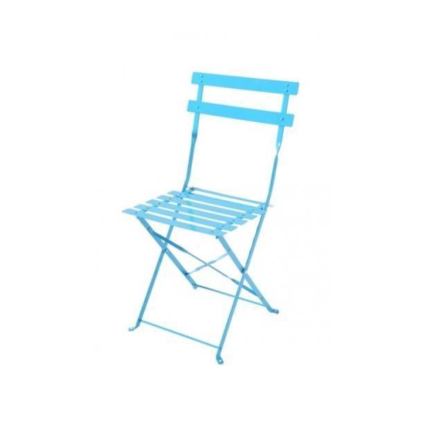 magnifique lot de 2 chaises bistrot bleu lagon achat vente chaise bleu cdiscount. Black Bedroom Furniture Sets. Home Design Ideas