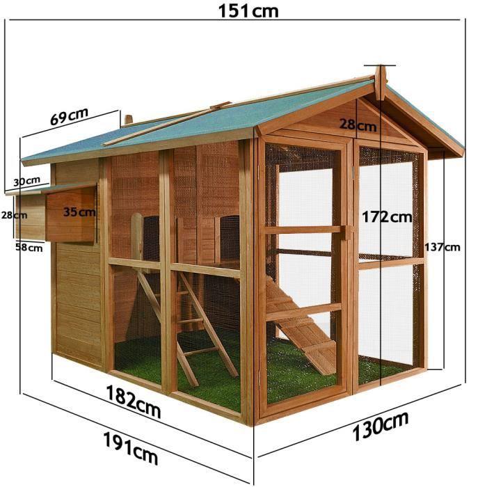 clapier poulailler maison ext rieur rongeurs achat vente poulailler clapier poulailler. Black Bedroom Furniture Sets. Home Design Ideas