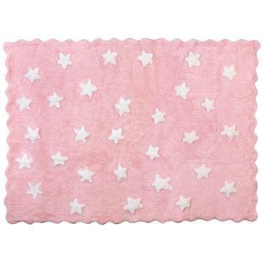 Tapis petites toiles fond rose en coton et lav achat for Tapis pour chambre petite fille