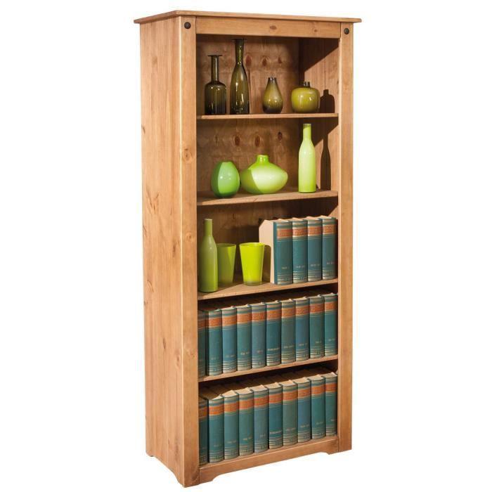 biblioth que en bois massif 4 plateaux achat vente. Black Bedroom Furniture Sets. Home Design Ideas