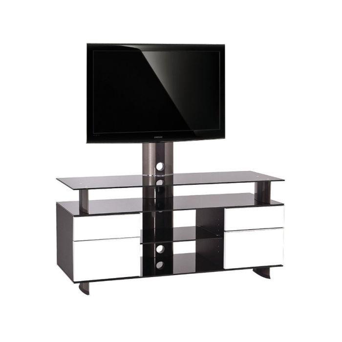 Meuble tv design gld 120h ibw 32 50 pouces achat for Meuble tv qui tourne