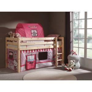 lit enfant sans toboggan pino hello kitty nat achat vente lit complet lit enfant sans. Black Bedroom Furniture Sets. Home Design Ideas