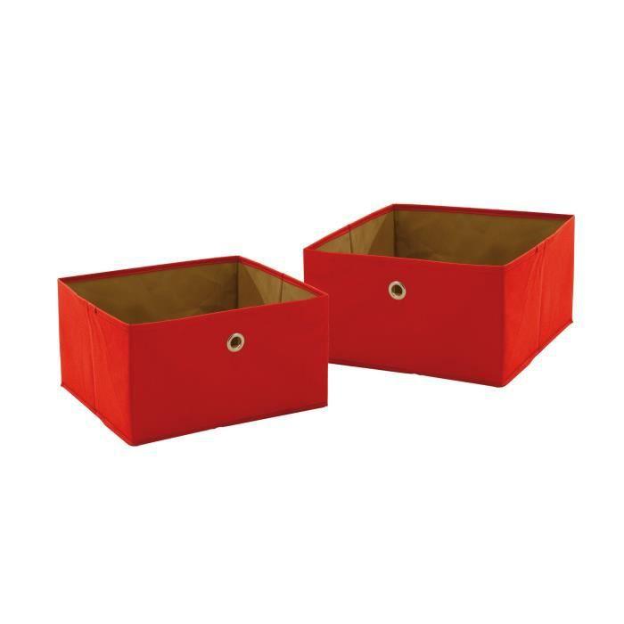 Roba 26022 rot bo tes en toile rouge achat vente for Maison rouge boite de nuit