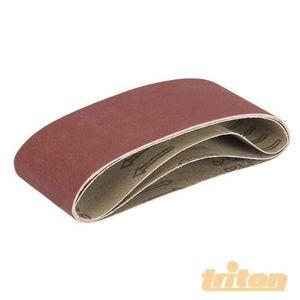 TRITON Lot de 3 bandes abrasives pour la ponceuse ? bande compacte Triton