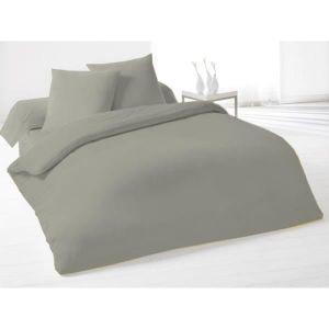 housse de couette lin gris achat vente housse de. Black Bedroom Furniture Sets. Home Design Ideas