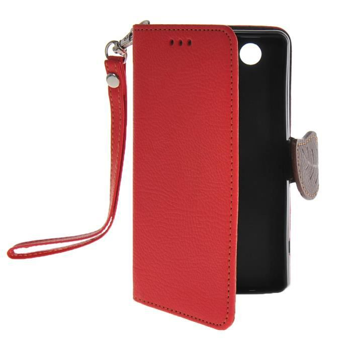 Coque housse tui sony xperia z3 compact rouge achat for Housse xperia z3