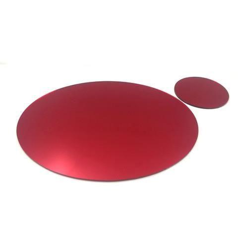 8 rouge ovale miroir napperons et sous verres achat for Miroir acrylique incassable