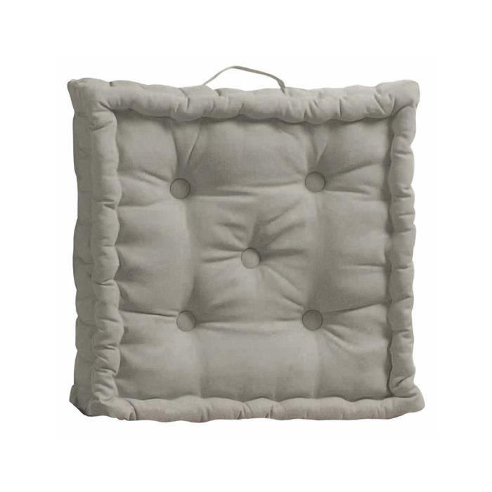 coussin de sol pacifique uni taupe 45x45x10cm achat vente coussin d 39 ext rieur coussin de sol. Black Bedroom Furniture Sets. Home Design Ideas