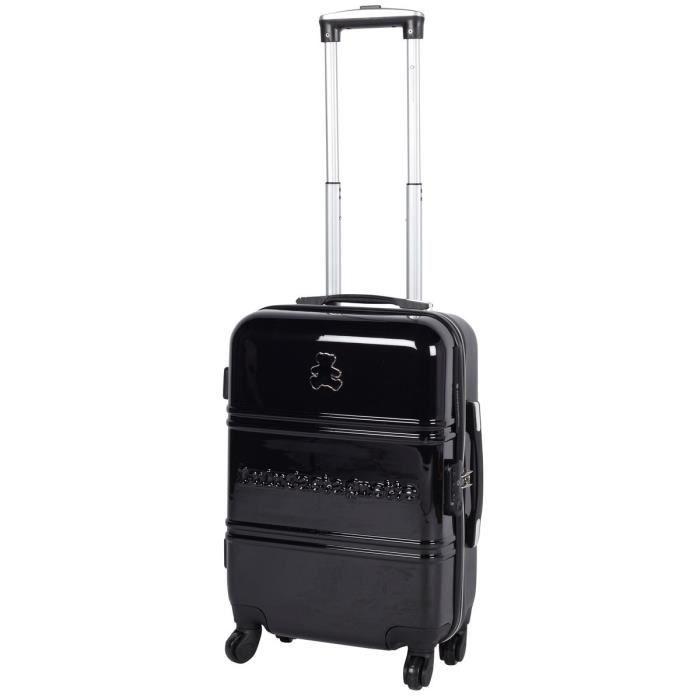 valise cabine 50 cm noir de la marque lulu castagnette noir noir achat vente valise bagage. Black Bedroom Furniture Sets. Home Design Ideas