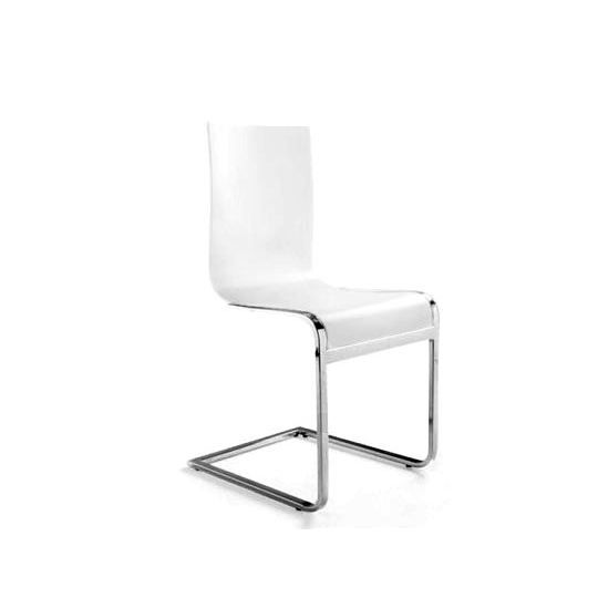 Chaise london blanche achat vente chaise bois m tal for Chaise blanche pied en bois