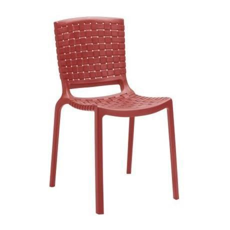 Pedrali chaise design tatami rouge pedrali achat for Chaise design rouge