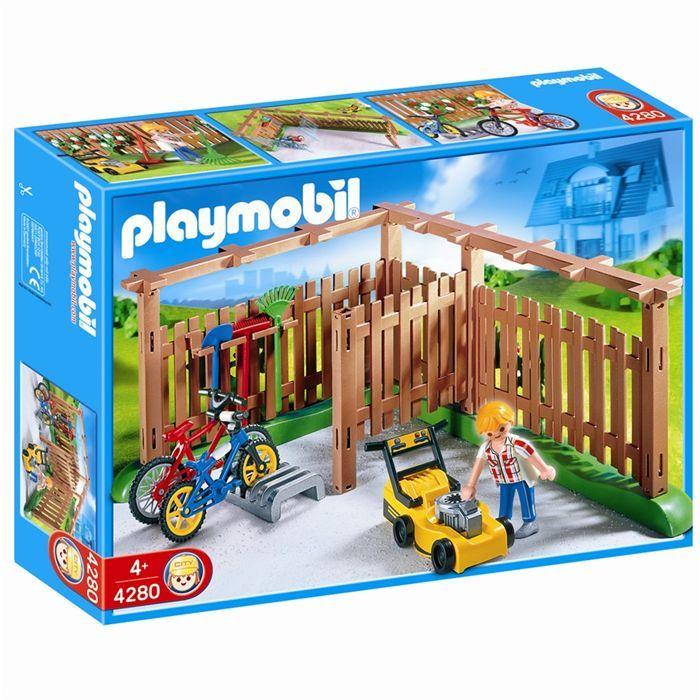 playmobil abri pour vlos et outils de jardinage - Playmobil Maison Moderne 4279
