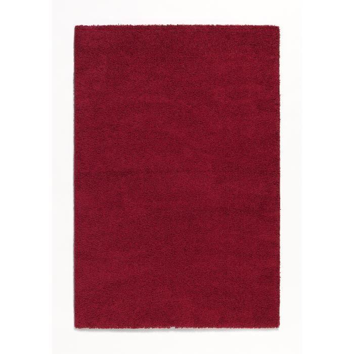 trendy tapis de salon shaggy rouge 200x280 cm achat. Black Bedroom Furniture Sets. Home Design Ideas