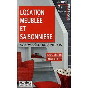 location meubl e et saisonni re avec mod les de achat vente livre maud velter fabrice. Black Bedroom Furniture Sets. Home Design Ideas